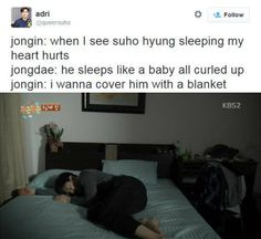How Suho Sleeps: By Kai & Chen - Proven by Fluttering Inida