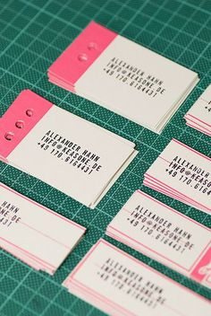 Pop of Pink. | #Business #Card #letterpress #creative #paper #businesscard #corporate #design #visitenkarte #corporatedesign < repinned by www.BlickeDeeler.de