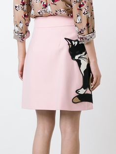 MSGM embroidered cat skirt