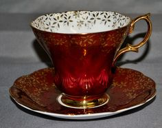 Royal Albert, England. LYRIC shaped LUSTER Tea cup and saucer 1960'S in Pottery & Glass, Pottery & China, China & Dinnerware, Royal Albert | eBay