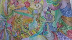 PAINTING 13.5 X 19.5 IN  WATER COLOR+ PENCILS  BY RIVKA FILIIN  INSPIRATIONAL  #ArtDeco