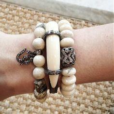 The Woods Fine Jewelry Diamond Horn Bangle - Lena Larose