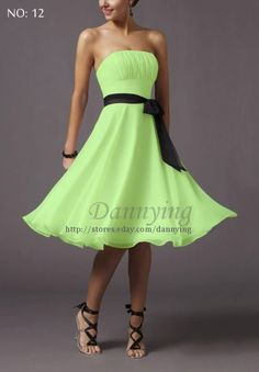 Lots of colors available for this chiffon dress. Black or white make more sense, but wanted to inspire with a little color.  $44.50