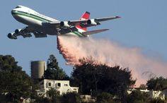 "(T-979) Boeing 747-100 (N479EV) Evergreen Super Air Tanker - ""Danger Close"" Drop"