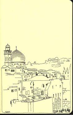 Sketchbook: a year in Jerusalem on Behance