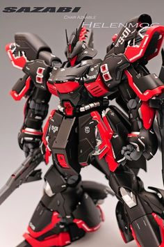 Master Grade MG 1/100 Sazabi Ver Ka - Painted Build By Modeled by HelenMoc