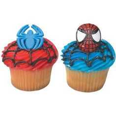 Spiderman Cupcakes! boys-boys-boys