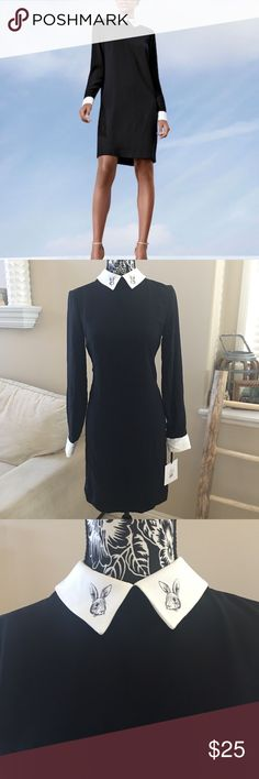 "Victoria Beckham Collared Dress NWT VICTORIA BECKHAM for Target Women's Black Collared Dress  -Size Small, 18"" across chest. 35.5"" length. Tags have been crossed out to prevent store returns Victoria Beckham for Target Dresses Mini"
