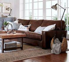 Living room inspiration / Square Arm Leather Sofa