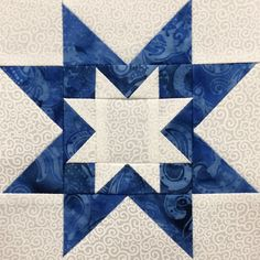 is the fi.This is the fi. Pieced snowflake PDF easy quilt block pattern simple quick Beautiful Blue Hunters Star Quilt Pre-cut Block Kits x L Christmas Quilt Patterns PDF Pinwheel Quilt Pattern Star Quilt Hunters Star Quilt, Lone Star Quilt, Star Quilts, Barn Quilt Patterns, Pattern Blocks, Star Patterns, Canvas Patterns, Quilting Designs, Quilting Projects