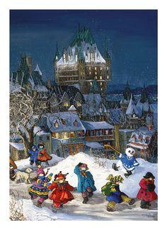 Casse-tête Pauline Paquin - Château Frontenac - Référence : 018535 #Puzzle #Cassetête #Jeux #Jouets #Québec
