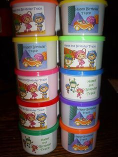 TEAM UMIZOOMI Birthday Party pack of 6 Play dough FAVORS for goody bags