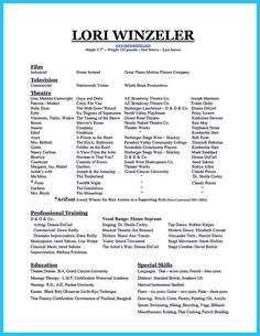 Cool The Best And Impressive Dance Resume Examples Collections,