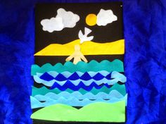 Flame: Creative Children's Ministry: Telling the story of Jesus' baptism: Printable cards and fuzzy felt Jesus Crafts, Vbs Crafts, Preschool Crafts, Paper Crafts, Bible Crafts, Kids Sunday School Lessons, Sunday School Projects, School Ideas, Jesus Baptism Craft