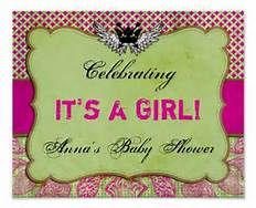 pink and green baby shower - Bing Images