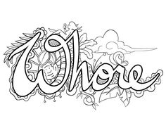 17 Best Dirty Word Coloring Pages Images On Pinterest