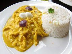 Aji the Gallina Peruvian cusine Peruvian Dishes, Peruvian Cuisine, Peruvian Recipes, Chicken Breakfast Recipes, Chicken Recipes, Meat Recipes, Cooking Recipes, Healthy Recipes, Gourmet