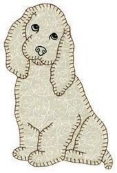Quilt Book -- Darling Little Dogs -- 35 easy Small Dog Breed Patterns -- Dog Quilt Pattern Book -- Hand or Fusible Appliqué - Cute quilt applique! Applique Templates, Applique Patterns, Applique Quilts, Embroidery Applique, Quilt Patterns, Machine Embroidery, Applique Designs, Dog Quilts, Cute Quilts