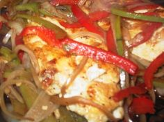 Quick skillet chicken flavored with peppers, onions, garlic, basil and balsamic vinegar. Makes chicken very tender and dinner is ready in less than 30 minutes.