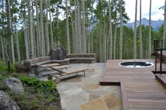 spa and firepit