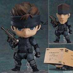 Nendoroid Metal Gear Solid Snake Action Figure Toy