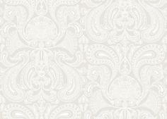 Malabar (95/7040) - Cole & Son Wallpapers - A detailed off white design of paisley fan shapes on a soft grey base. Perfect for feature walls – available in other colours. Please ask for a sample for true colour. Paste-the-wall product.