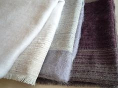 Silk/Mohair throw by Hiroko Takeda Textile Design