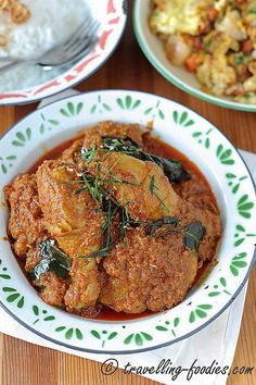 I don't know about you guys, but from where I live, no one could resist a good rendang. Thick slabs of meat which had been stewed in a rich and spicy coconut-based sauce over a prolonged period of . Spicy Recipes, Curry Recipes, Meat Recipes, Indian Food Recipes, Asian Recipes, Chicken Recipes, Cooking Recipes, Cooking Tips, Rabbit Recipes