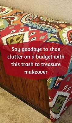 Say Goodbye To Shoe Clutter On A Budget With This Trash To Treasure Makeover