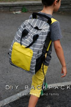 petit à petit and family: DIY Rectangular BACKPACK