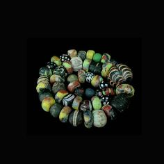A Roman to Islamic Gabri glass bead necklace. x8539 | eBay