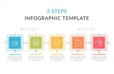 Buy Five Steps Infographic Template by _human on GraphicRiver. Infographic template with five squares with text and line icons, process diagram, workflow, five steps or options Arc. Banner Design, Layout Design, Infographic Templates, Infographics Design, Advertise Your Business, Online Business, Free Banner Templates, Best Banner, Banner Printing