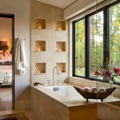 Lake Creek Residence - contemporary - Bathroom - Other Metro - Krueger Architecture & Design