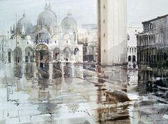 Mike Chaplin - Basilica in the Rain - Venice
