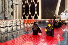 Star Wars Death Star hangar made entirely of LEGOS, built in 2011 for Science Discovery Day at Berkeley Preparatory School Tampa with 30,000+ pieces.