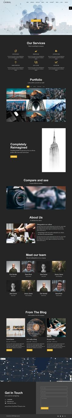 Canal is clean and modern design 3in1 responsive bootstrap #HTML5 template for onepage #startups business #agency website to live preview & download click on Visit