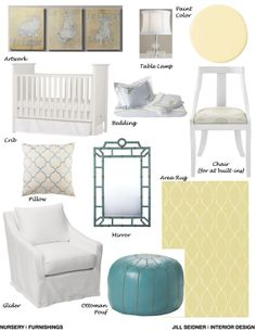 Newport Beach, CA Online Design Project Nursery Furnishings Concept Board