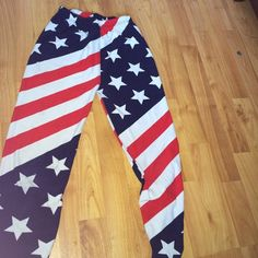 AMERICAN FLAG LEGGINGS!! Soft to the touch American flag printed leggings Pants Leggings