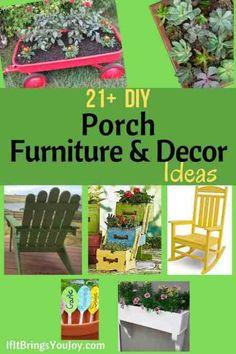 How to make your outdoor porch or deck the perfect space. Easy DIY project ideas for porch decor and furniture including free tutorials. Make your backyard, porch. and any outdoor space perfect for relaxing and entertaining with these DIY ideas. Diy Furniture Decor, Porch Furniture, Outdoor Furniture Sets, Diy Porch, Diy Deck, Cool Diy Projects, Project Ideas, Family Fun Night, Free Tutorials