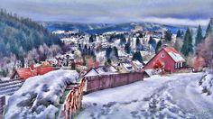 Altenau - Winterblick vom Grasstieg auf die Bergstadt.