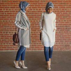 white hijab tunic