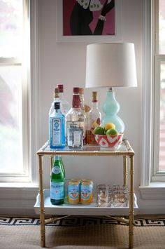 Side Table Bar | How to set up a bar | a bowl full of simple