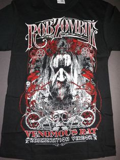 8f32abfcb55 ROB ZOMBIE Rat Venemous Regeneration Vendor T-Shirt   NEW band concert tour