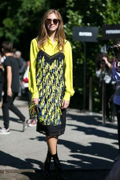 Pin for Later: All the Best Street Style From Milan Fashion Week Milan Fashion Week, Day 2 Chiara Ferragni.