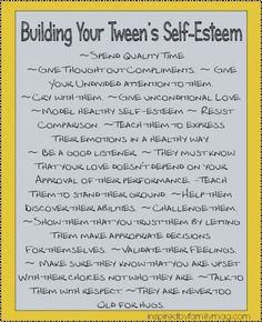 building your tweens self-esteem