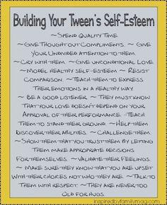building your tweens self-esteem