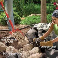 Build a Backyard Waterfall and Stream