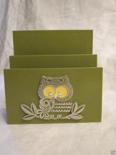 images Owl, Mail Holder, Napkin Holders, Retro Vintage, Napkins, Lettering, Green, Avocado, Plastic