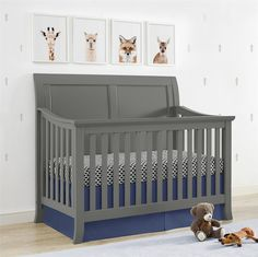 Dress up your nursery with the contemporary clean lines and the classic sleigh style of the Baby Relax Hollis 4-in-1 Convertible Crib. Transitional in its design with a modern feel, the Hollis will bring a fresh, sophisticated look and feel to your baby's room. Featuring a bold silhouette with a sleigh headboard and inset square accents, this crib brings a refined simple elegance, which easily meshes with both contemporary and classic decor. The sturdy wood construction of the frame and…