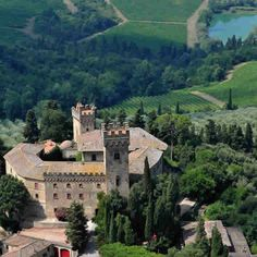 Castello di Poppiano - historic castle in Tuscany that produces wine and olive oil